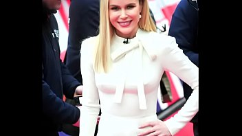 Amanda Holden Rock Hard Pokies on the Red Carpet