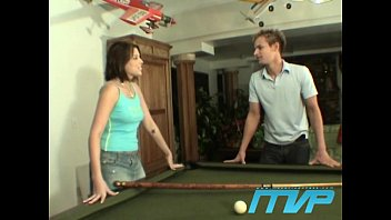 Adult pool table stories Brunette bets her pussy on a game of pool