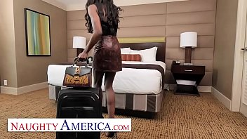 Naughty America    Ana Foxxx Needs Room Servic eds Room Service Of Coffee And Cock