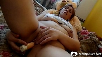 Hot mom uses a dildo to pleasure herself