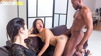 AMATEUR EURO - Super Hot Latina Teen Jade Presley Takes BBC On Set While The Guy's Wife Is Watching