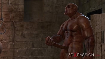 BRUTAL ORGY IN THE DUNGEON. No one knows about Selina's passion. 3dxpassion.com