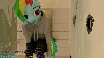 Yiff fucking - Futanari in toilet
