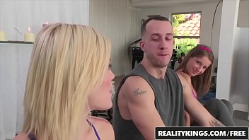 Yoga Babes (Ash Hollywood, Presley Hart) Share A Cock - Reality Kings