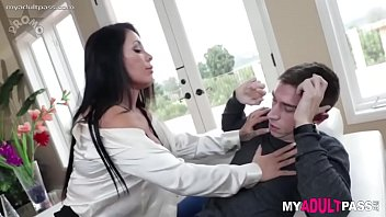 Step mom gives son some lessons