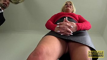 Busty MILF dominated before cum in mouth