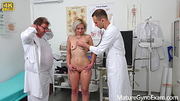 Hot blonde MILF Lenny Sweet examined and fucked by young medic
