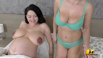Shione Cooper Big Comeback In 8 Month Pregnancy With Katerina Hartlova In Hot Action