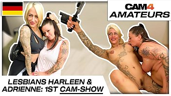 Harleen van Hynten and Adrienne Kiss: Naughty lesbian cam sex fun with 2 needy bitches! Cam4.com