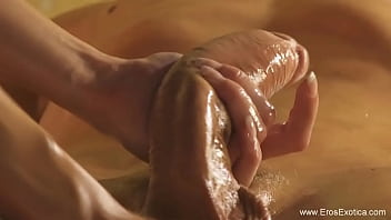 Massage For His Tired Huge Cock Making Deep Experience