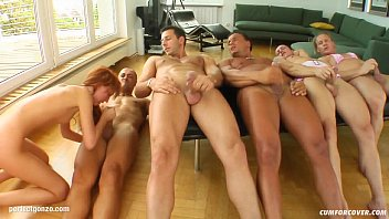 B Silver In Group Blowbang Facial Cumshot Scene On Cum For Cover