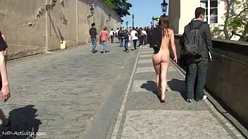 Chick in naked public Crazy chick rossa has fun in public streets