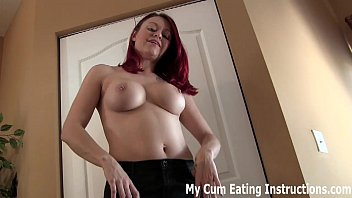 Cum twice and eat both loads CEI