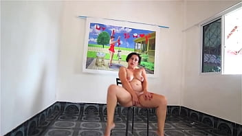 Striptease on high heels at art gallery. Broken Heels Nice woman shows her body when undressing from white-black dress.  She has no panties upskirt. Chick wants to fuck too much. Show pussy.  Legs open wide. Shaved cunt.