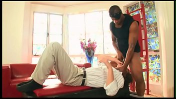 Black guy uses a white guy as his bitch, gay sex movie 30 min