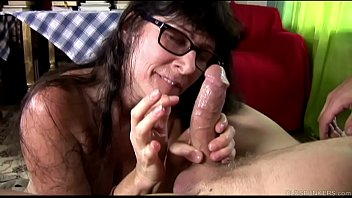 Sex with mailman Cock hungry old spunker sucks and fucks for a mouthful of cum