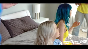 Two Dad's Swap Teen Daughters Group Sex Punishing