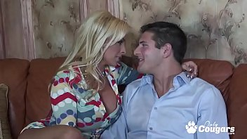 Big tits thick blonde Holly halston takes a hard dick for a ride