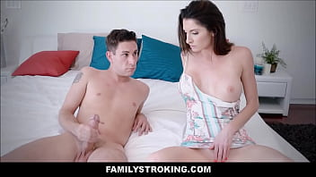 Hot Big Tits MILF Step Mom Fucks Masturbating Son