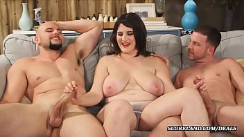 the wife with big natural tits makes a threesome - 69VClub.Com