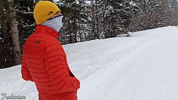 Epic creampie for a Frenchie Blonde Nympho: she gets drilled very hard multiple times by her ski instructor and has a super intense real female orgasm. Freakin' fucking mountains holidays.