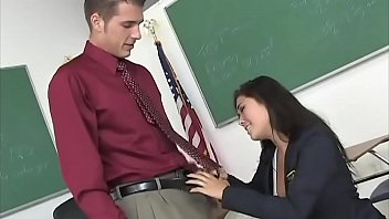 Teacher dreams in his office to get fucked by a nice looking, big boobs having schoolgirl thumbnail
