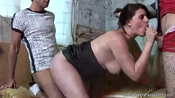Dutch MILF 3some Getting Down