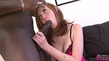 Teen redhead gets pounded in her ass by black man and she swallows cum Image