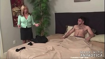 Please don't tell your father - Stepmom comforts Stepson thumbnail