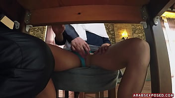 ARABS EXPOSED - Young Arab Woman Enjoys Warm Meal And Gets Cock For Dessert