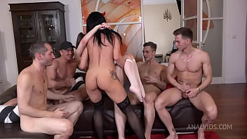 Hot Milf Ruslana Chili And Luscious Baby Bamby Fuck Hard With 4 Cocks Double Anal Double Vaginal Double Penetration Nrx093 2 Min