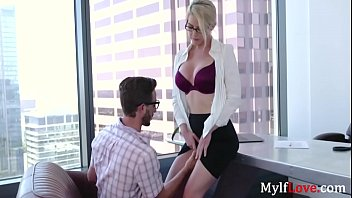 Blonde MILF Boss Needs To Workaholic Cunt Fucked- Kit Mercer