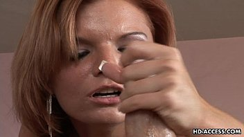 Gorgeous MILF honey sucking on a nice meat pole with pleasure