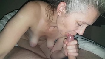 hanysy hot 43 year old milf is doing a blow job cum in mouth