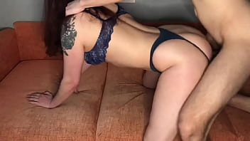 Amateur Doggystyle sex and cum on huge ass my hot wife KleoModel