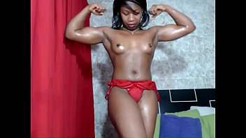 Beautiful bicep breasts Muscle pose sexy