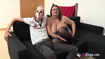 ENORMOUSLY TITTED Agata gets a rough anal pounding while husband watches