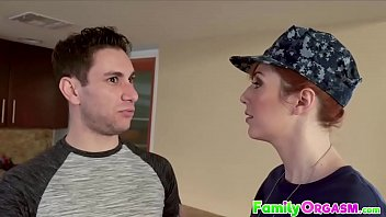 FamilyOrgasm.com - Homecoming Militar Wife Bangs Stepson