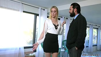 Real estate agent group anal fucked