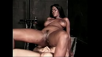 Nice cute ebony slut gets white dick inside deep wet unshaved cunt