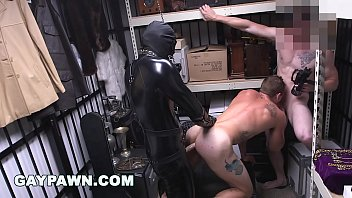 GAY PAWN - We Paid Our New Employee To Fuck A Gimp In The Backroom