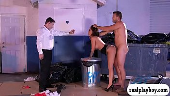 Booby waitress rammed at the dump area