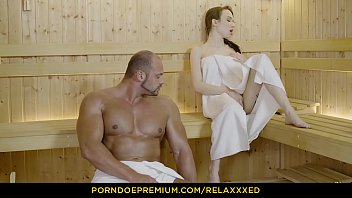 RELAXXXED - Angelic beauty passionate penetrations in sauna fantasy fuck
