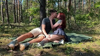 Public couple sex on a picnic in the park KleoModel