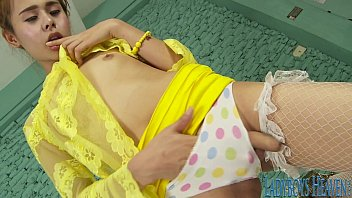 Transvestite knickers Young ladyboy belle solo tease