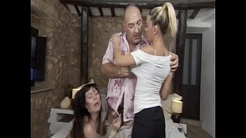 Mature man has wild sex with two young whores