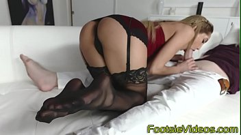 Teen honeys feet licked
