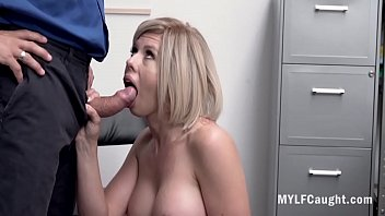 Blonde MILF Can't Let Go OF Her Clepto Habits And Is Punished- Amber Chase