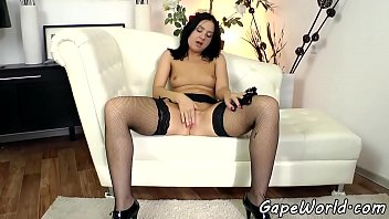 Lingerie loving gaping babe gets assfucked