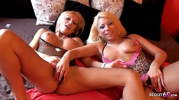 ▶▶ Two Real German Hooker at Lesbian Session for Cash with Client in P Club Parlour ◀◀
